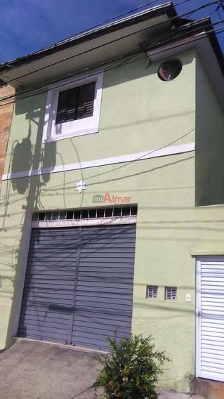 Casa 2 Dormitórios/salão Comercial Em Baixopróx. Metrô Penha - V7635