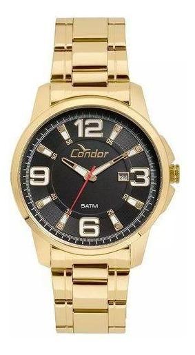 Relógio Condor Masculino Ref: Co2115ktj/4c Casual Dourado