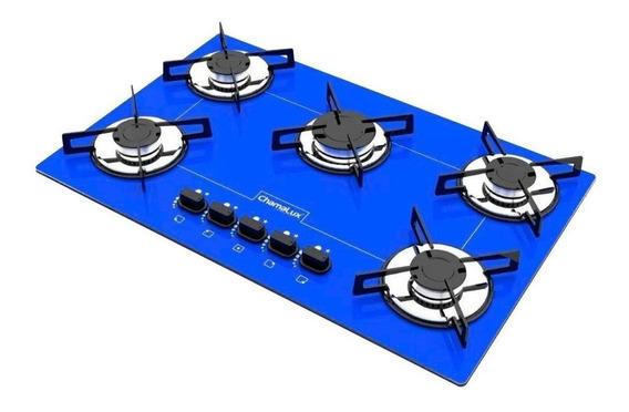Fogão cooktop a gás Chamalux Luana 5 Bocas azul