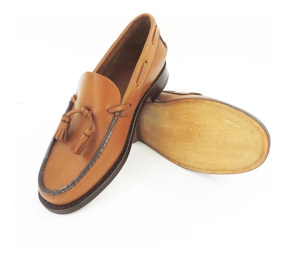 Zapato Mocasín Para Hombre Clásico Suela Pompón Crespo