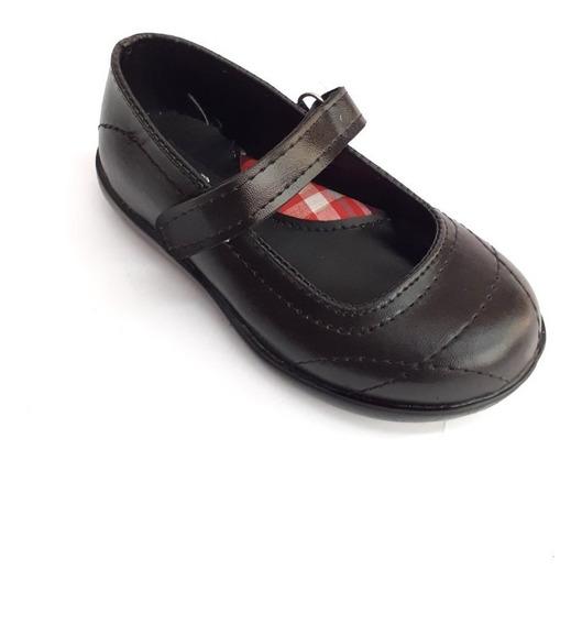 Guillermina Colegial Nena Negro Escolar Zapato Velcro G.a.p