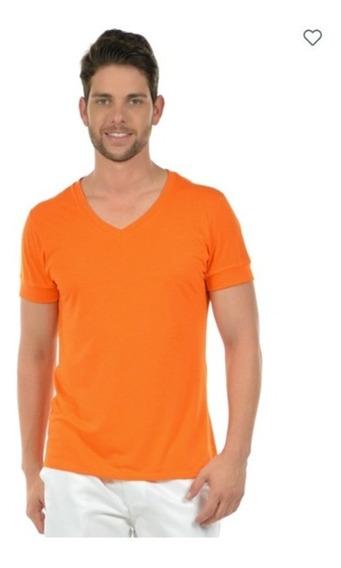 Kit 4 Camisetas Masculinas Decote V Maior 21806 Poliéster