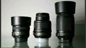 Camera Nikon D5100 + 50mm 1.8 + 18-55 + 55-200 + 2 Baterias