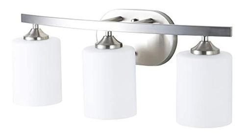 Lámpara De Baño 3 Luces, 21.0 In, Acabado En Níquel