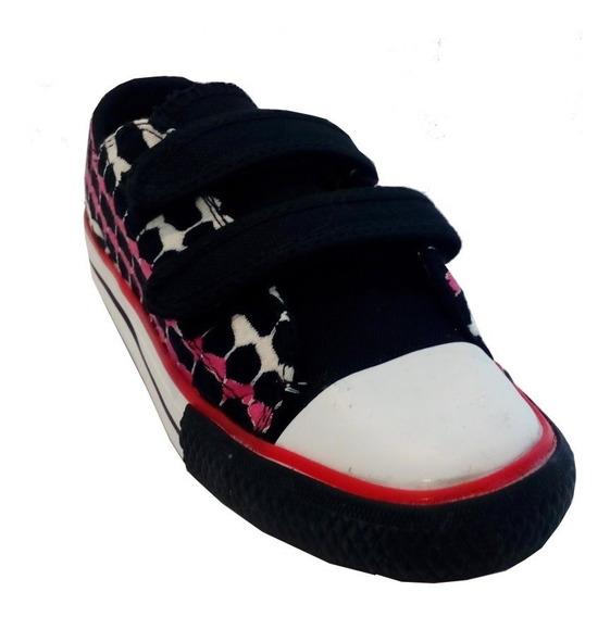 Zapatillas Niñas Niño Con Abrojo Marca Pampero Modelo Flor
