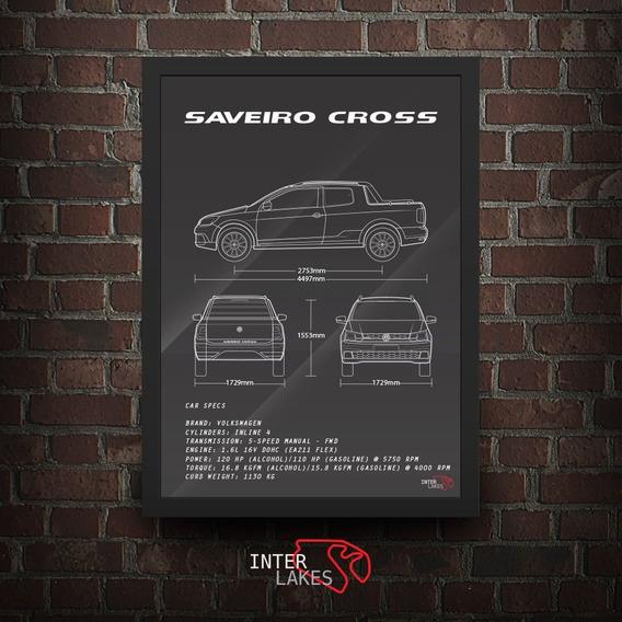 Quadro Vw Saveiro Cross Cd G7 Interlakes - Poster Carro