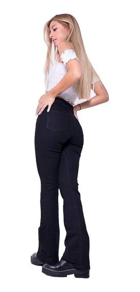 Pantalon Jean Oxford Mujer Elastizado Clasico Negro