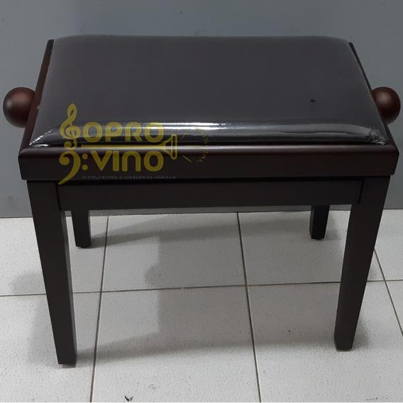 Banco Piano Órgão Teclado Elegance Confortável Marrom Saty