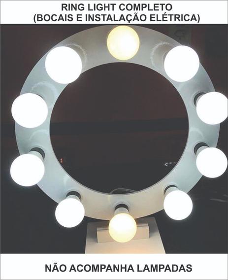 Mdf Ring Light C/8 Bocais Luiz Self/ Maquiagem *sem Led*