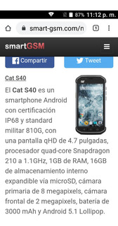 Cat S40 Smartphone Caterpillar Trummss Quardcore Snapdragon