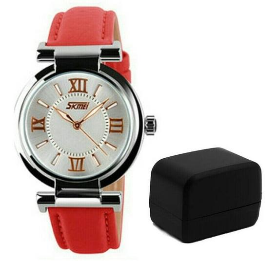 Relógio De Pulso Feminino Skmei 9075 Luxo Original Puls Cour