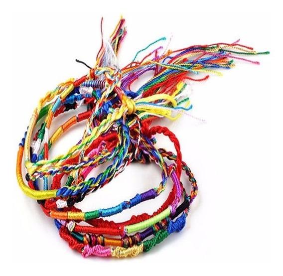 Kit 10 Pulseiras Pano Tecido Multicolor Reggae + Brinde