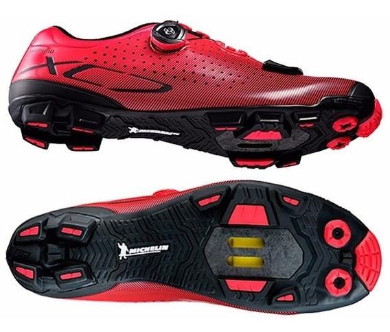 Zapatillas Ciclismo - Shimano Sh- Xc7 Roja
