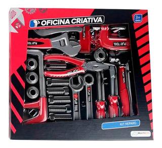 Oficina Criativa Kit Reparo Com 10 Ferramentas E Acessórios