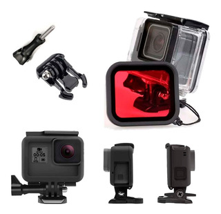Kit Protector Para Gopro Hero Black 7, 6, 5 + Case Buceo 45m