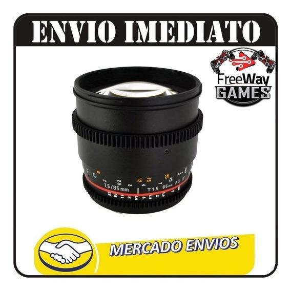 Lente Rokinon 85mm T1.5 Cine (canon) Oem + Nfe
