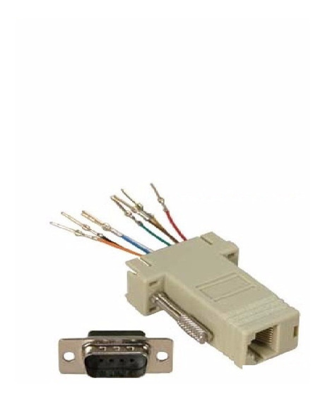 Adaptador Db9 Macho A Rj45 Hembra Pinout Variable Centro