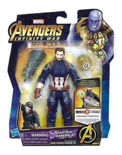 Avengers Figura Capitan América C/piedra /accesorios