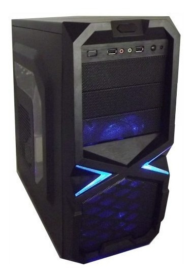 Cpu Gamer I3 Bluecase Gabinete C/ Leds Frete Gratis