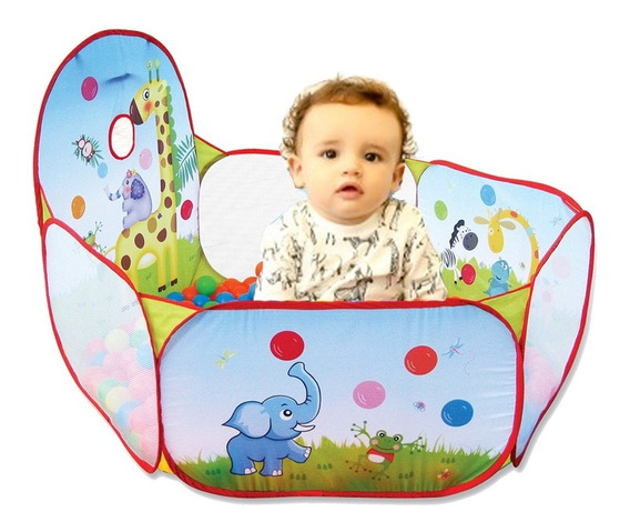 Piscina De Bolinha Infantil Bebe Girafa