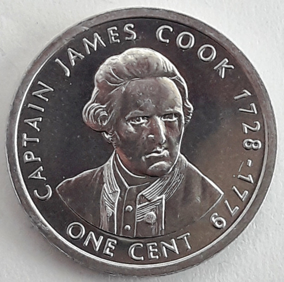 Islas Cook - Moneda Del Año 2003 De 1 Cent - James Cook