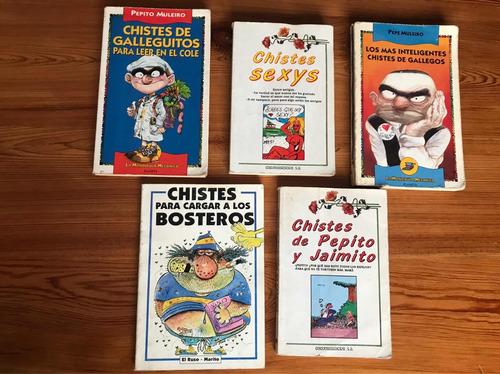 Lote 5 Libros De Chistes Pepe Muleiro, Sexys, Bostezos.