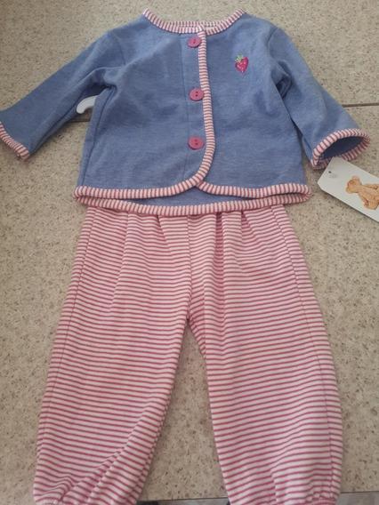 Conjunto De Ropa Para Niña Color Rosa Y Azul.