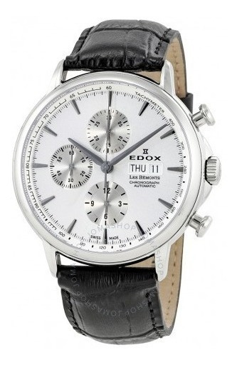 Relógio Edox Les Bemonts Cronógrafo Branco/couro Automático