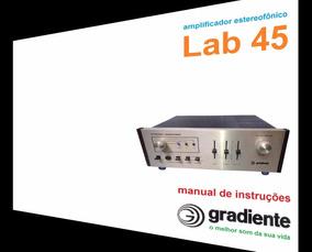 Manual Do Amplificador Gradiente Lab-45 (cópia Colorida)