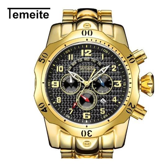 Relógio Temeite Original Funcional Com Box