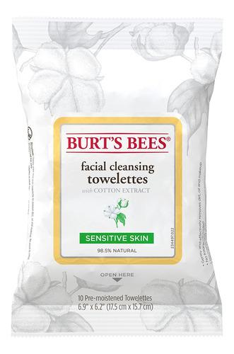 Toallitas Desmaquillantes Burts Bees Sensitive 10un