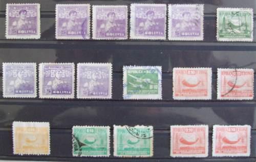 Bolivia, Hermoso Lote De 25 Sellos De Beneficencia L0242