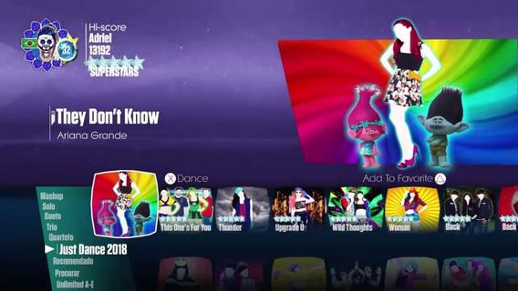 Jogo Just Dance 2018 Para Xbox 360, Mídia Digital
