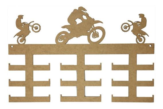 Quadro Medalha Mdf Motociclismo - 18 Medalhas