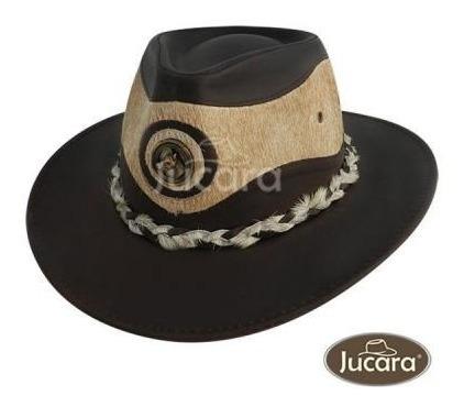 Sombrero Jucara Australiano De Cuero Y Pel