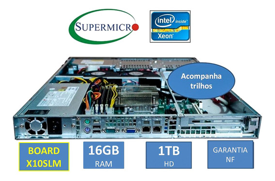 Servidor Supermicro X10 1u Xeon 16gb Ram Hd 1tb Sem Juros