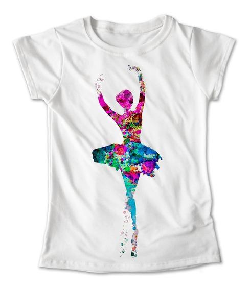 Blusa Danza Colores Playera Estampado Ballet Pintura #209