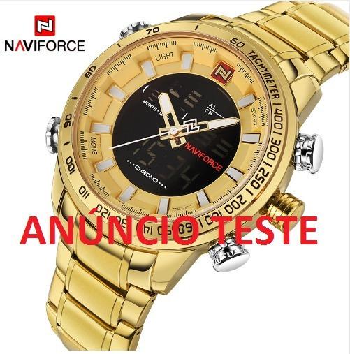 Relógio - Naviforce Marca De Luxo Do Esporte Dos Homens