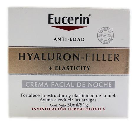 Crema Facial Noche Eucerin Hyaluron Filler Elasticity X 50ml