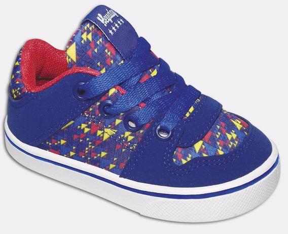 Zapatillas Heyday Niños Gris Y Azul Talle 17 Al 29 Art1045