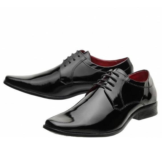 Sapato Social Masculino Couro Legítimo Verniz