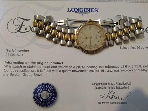 Relógio Longines Original Conquest Certificado