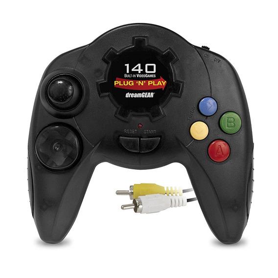 Controle Console Plug N Play Dreamgear 140 Jogos Jogue Na Tv