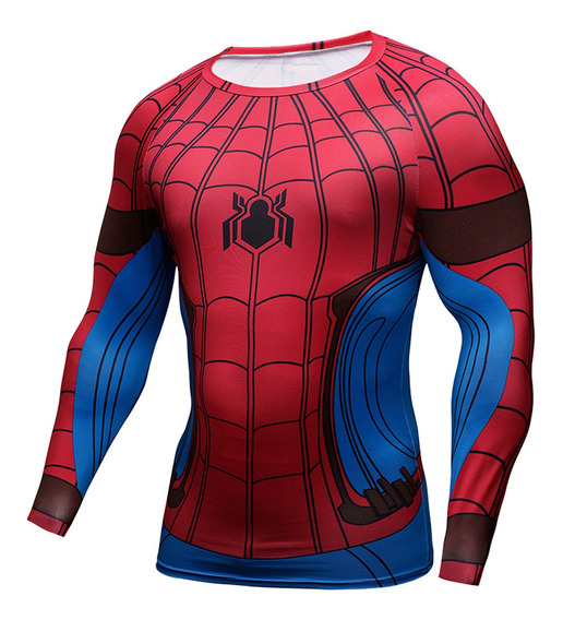 Playera Gym Lycra Iron Spiderman Marvel Avengers Endgame