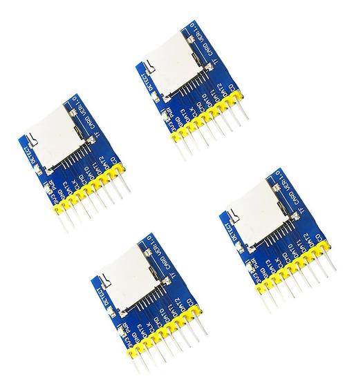 Conjunto De 4 Sd Micro Ponte Módulo Gps Acessórios Cartão Re