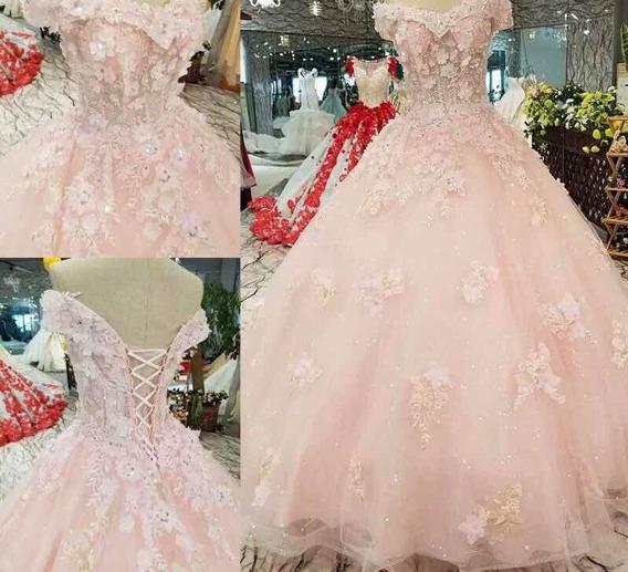 Vestidos Xv Años Quinceaños 15 Promocion Rosa Vestido Wal