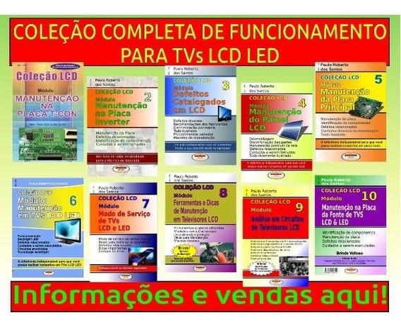 Livros Tvs Lcd Led Coleção Completa 01 A 10 Volumes C/brinde