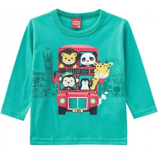 Camiseta Inverno Kyly Tamanho 6 Meses