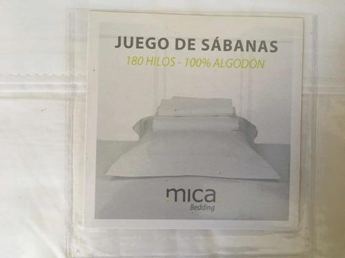 Imagen 1 de 4 de Juego De Sábanas 180 Hilos Algodón