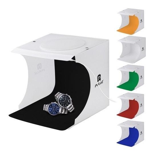 Photo Box Estúdio Com Luz Mini Studio Para Artesanato 2 Led